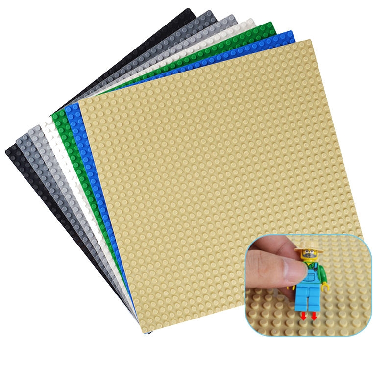 32*32 Dots Classic Base Plates for Small Bricks Baseplate Board figures DIY Building Blocks Toys For Children(China)