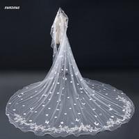7e6e32e4b4 Beautiful Flowers Wedding Dresses With Flowers Butterflies One Layer Pencil  Edge Appliqued Bride Veil Accessori Matrimonio