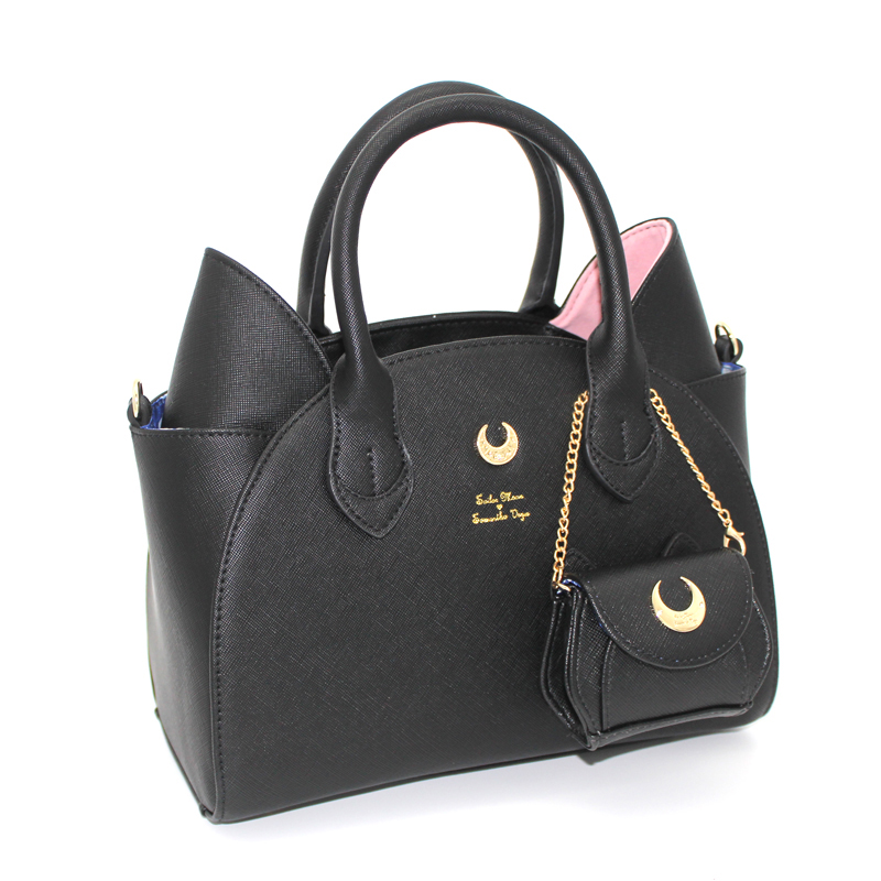 Sailor Moon Bag Samantha Vega Luna Women Handbag 20th Anniversary Cat Ear Shoulder bag Hand Bag 2017 brand design black white sailor moon luna artemis hand bag samantha vega handbag cat ear shoulder bag messenger bag