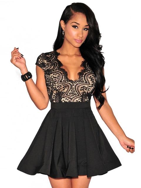 Lace Flared Dress