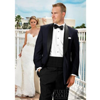 Men Wedding Suits Navy Groom Tuxedo Classic Suit High Quality Custom Made Suit Design Prom Wear