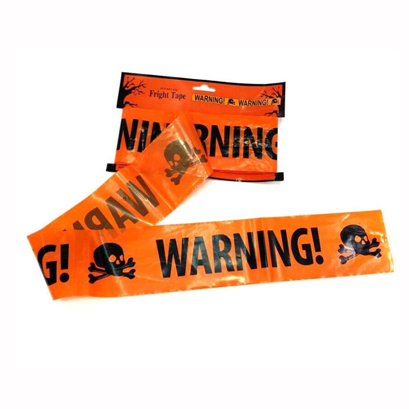 Trendy Plastic Halloween Party Warning Tape Signs Decor Window Prop Decoration