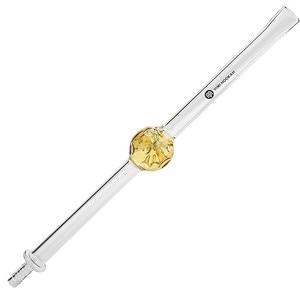 Image 1 - Yimi נרגילה בורוסיליקט זכוכית שישה שופר נרגילה צינור ידית עם צהוב כדור