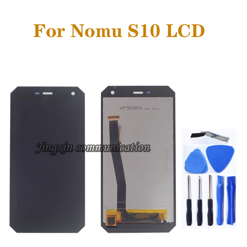 """5.0"""" original display for NOMU S10 LCD + touch screen glass digitizer components replacement mobile phone repair parts"""