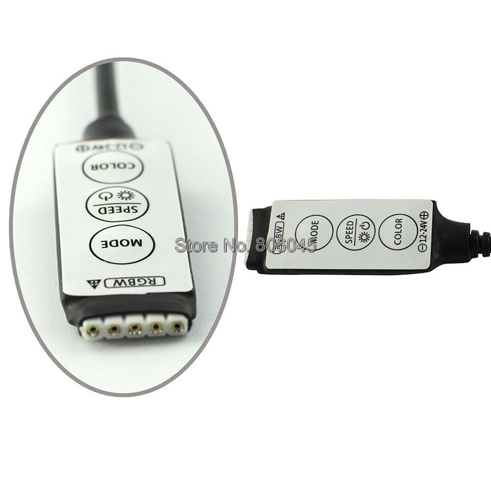 DC12//24V Mini Mode//Speed//Color Controller for 5050 RGBW LED Strip Lights