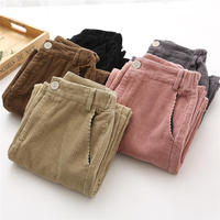 Autumn Winter Corduroy Pants Women Vintage Casual Thicken Warm High Waist Trousers Women Loose Streetwear Wide Leg Pants Q654