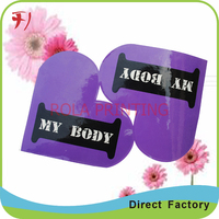 custom design own PET adhesive sticker, glass bottle cosmetic label