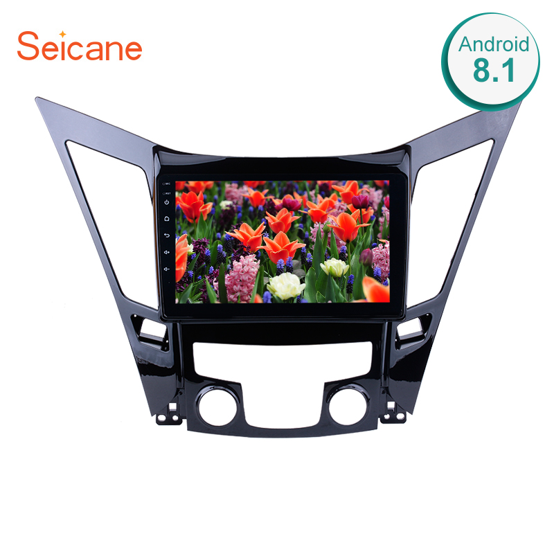 Seicane Android 8.1 9 inch HD Touchscreen DVD 2din car radio <font><b>GPS</b></font> Navi system For 2011 2012 2013 2014 2015 <font><b>HYUNDAI</b></font> Sonata <font><b>i40</b></font> i45 image