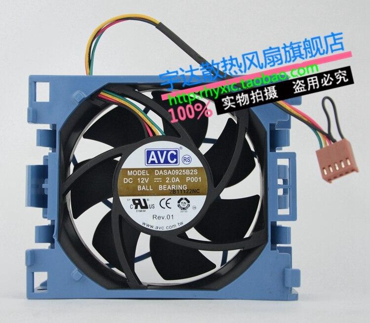 AVC DASA0925B2S 9CM 90*90*25MM 9*9 9025 12V 2.0A 4wire lead PWM fan For 511774 001 Proliant ML350 G6 Server Fan