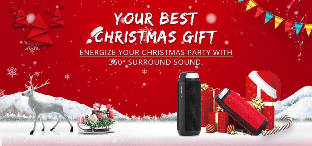 Tronsmart Element T6 Bluetooth Speaker 25W Portable Speaker with 360 Stereo Sound Soundbar Column for Music MP3 Player