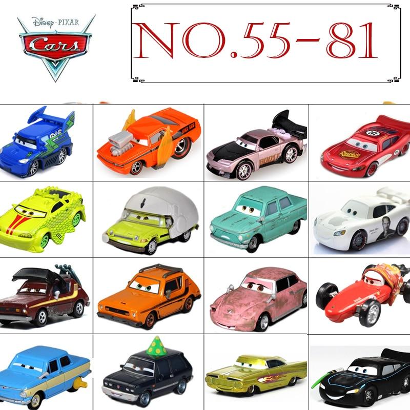 No.55-81 Disney Pixar Cars 3 2 1 METAL Diecast Cars Disney McQueen Chick Hick Sally Hamilton Ramone Rare Toys For Kids Boys Gift