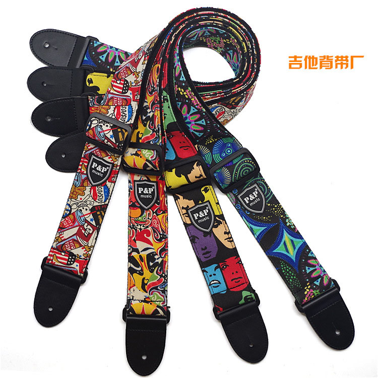 National, Straps, Accessories, Printed, Guitar, Wind