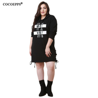 Summer Fashion Hooded Dresses 2017 Black 5xl 6XL 7XL Big Plus Size Women Basic T Shirts