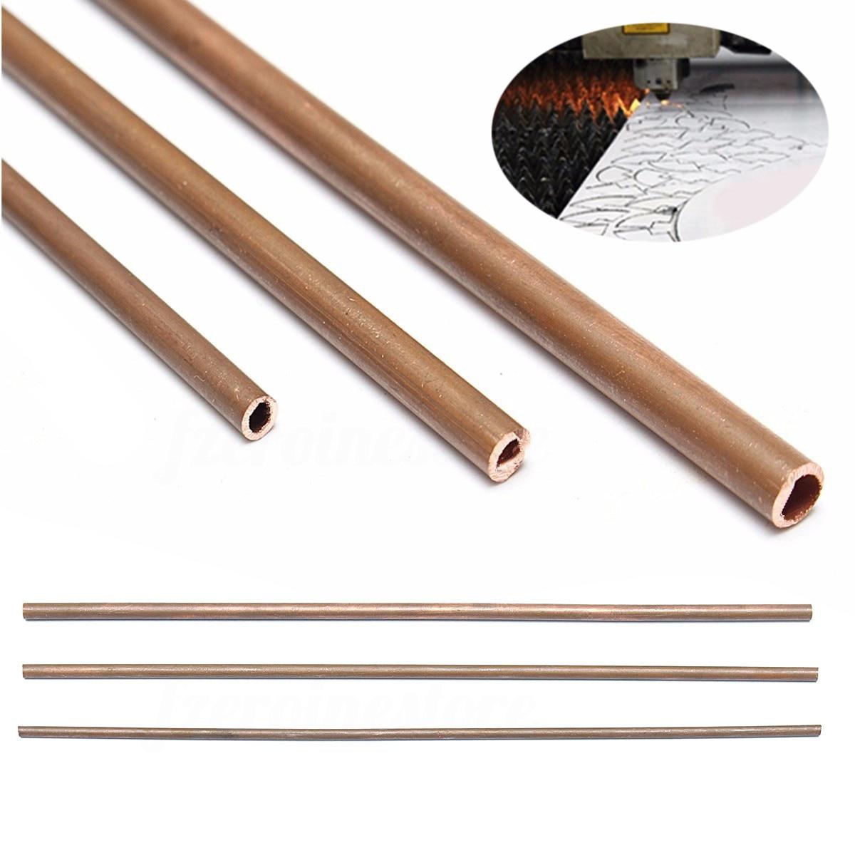 1pc New Copper Tube Plumbing Pipe DIY Rod 3mm/4mm/5mm Inner Diameter 300mm Length 5 10 355 mm flat head carbon rod copper coated for arc air gouging 50pcs