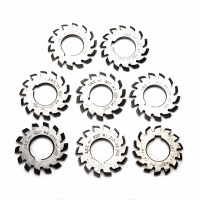 8pcs M1 22mm Bore HSS Involute Gear Cutters Set 20 Degree 1 8 Assortment Kit Set