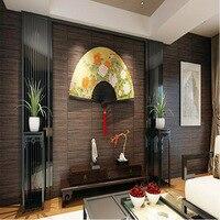 The Chinese High End Vintage Japanese Wallpaper Briar Wood Wood Floor Top Club Study Bedroom Wallpaper