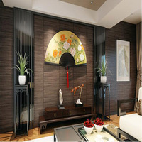 Papel De Parede Vintage 3D Flooring Wallpaper Wood Stripes Club Study Bedroom Solid Mural Wall paper Home Decor Wall Covering