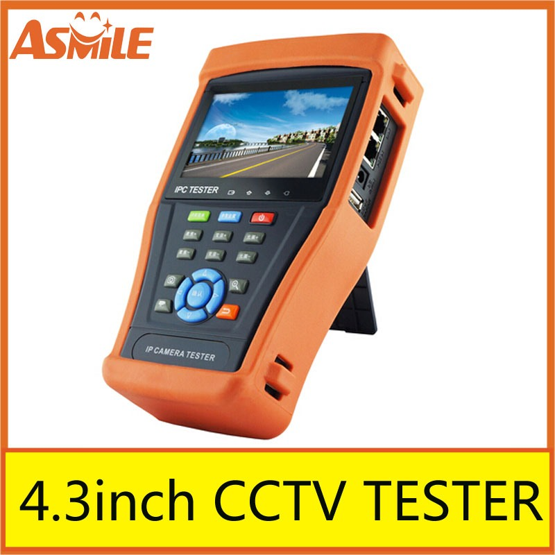 Hottest multifunction 4.3  cctv IP/Analog/AHD/TVI/CVI camera tester for IPC-4300 built-in wifi