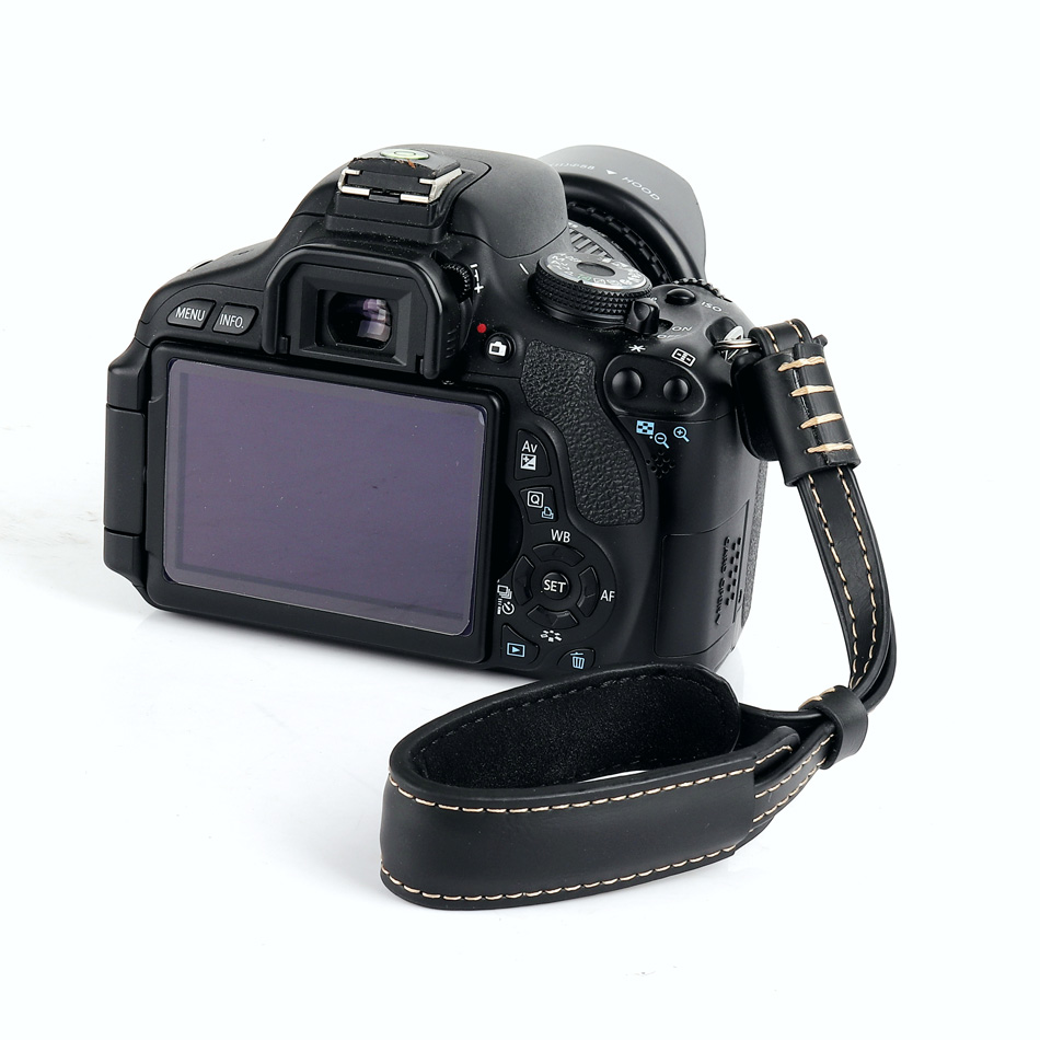Black Color : Brown Brown Coffee HUIFANGBU JHY Wrist Strap Grip PU Leather Hand Strap for SLR//DSLR Cameras