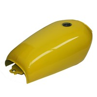 9L Gal Cafe Racer Yellow Gas Capacity Tank Universal Fuel Tank With Thick Iron Cap Switch
