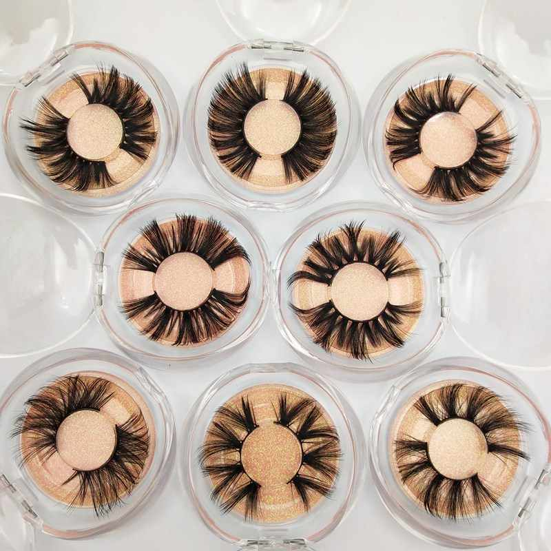 Buzzme 30 Pairs Wholesale 10 Style Eyelashes 6D 25mm faux mink lashes silk lashes Dramatic Volume Fake Lashes Makeup Extension