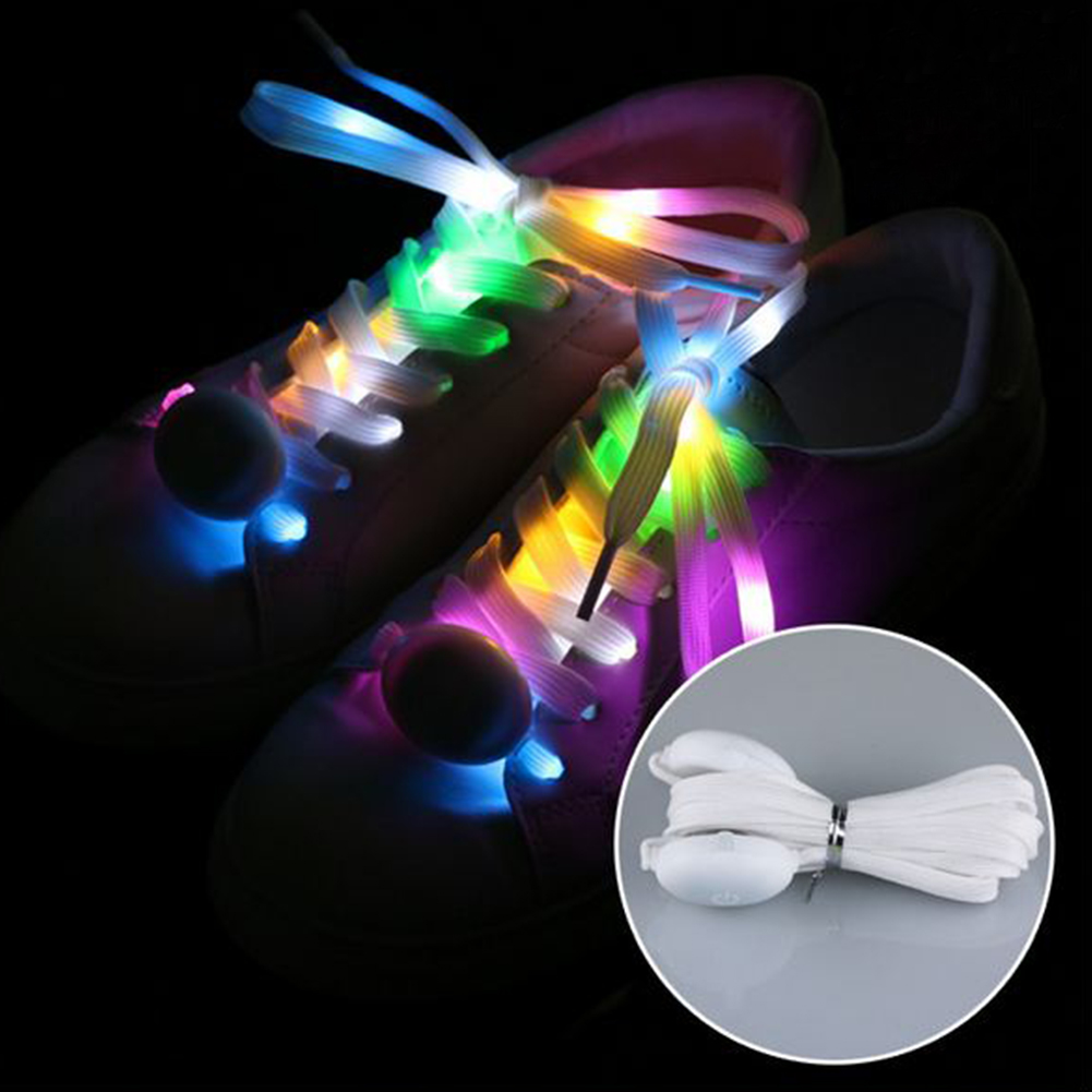 Club LED Shoelace Luminous Running Dancing Funny Party Cool Charming Multicolor Fabala Battery Powered Waterproof Shoestrings