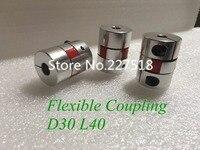 Free Shipping 4pcs 8mm X 10mm Flexible Shaft Coupling D30 L40 Shaft Coupling Coupler