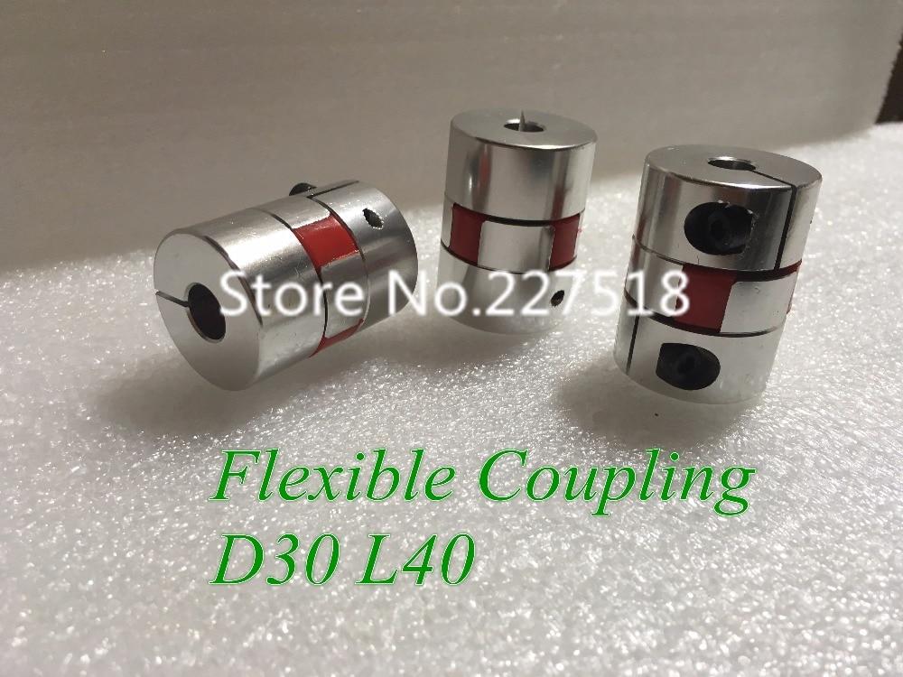 где купить 1pc/lot Jaw Flexible Shaft Coupling D30 L40 5/6/6.35/7/8/9/9.5/10/12/12.7/14/15mm Spider Coupling CNC Stepper Motor Coupler по лучшей цене
