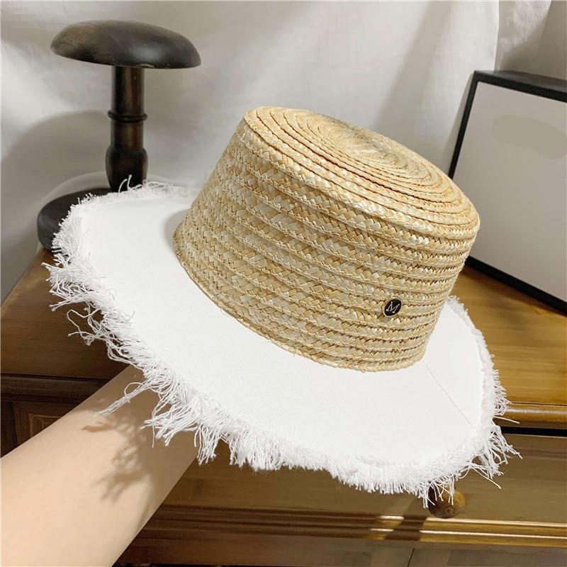 01906-he Новая летняя соломенная Лоскутная белая тканевая Шляпа Fedora для мужчин и женщин для отдыха Панама шляпа