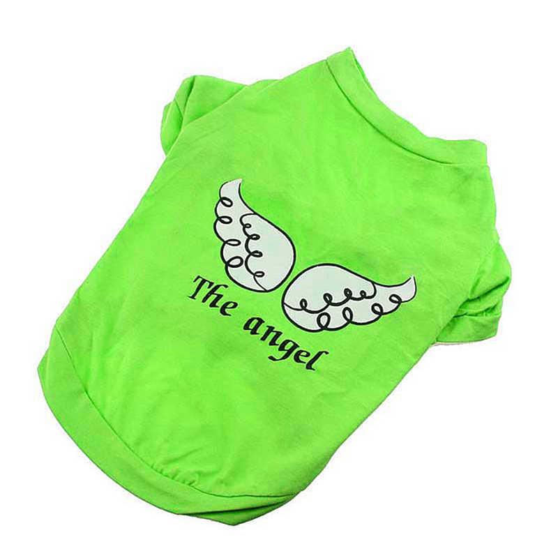 Dog Pet Dog Spring Summer Clothes Roupa De MascotasThe Angel Vest Sleeveless T-Shirts Clothes Small Pet Dog Puppy