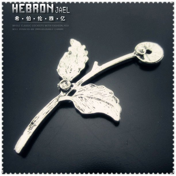 (30pieces)Flower Jewelry accessories Pendant(3387#)Free ship