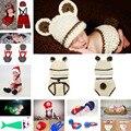 Chapéu de crochê Bebê Casulo Ervilha Bebê Recém-nascido Fotografia Props Infantil Crianças Crochet Costume Clothes 1 conjunto MZS-15038