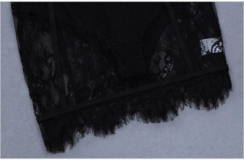 Robe de nuit en dentelle noire
