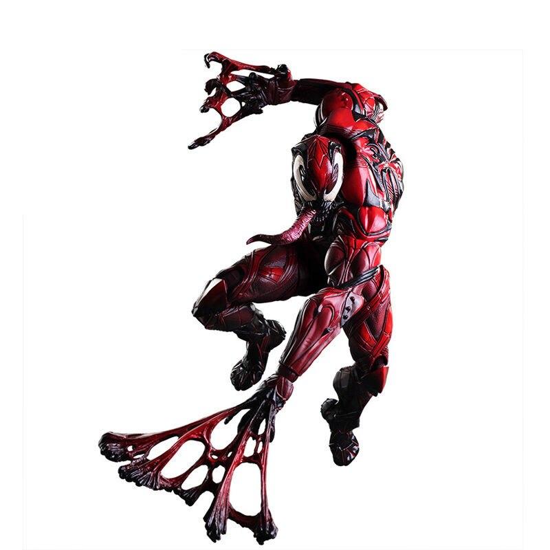 spiderman half black half red figure