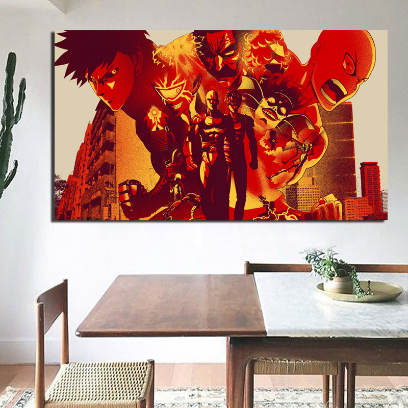 Anime One Punch Man Wallpaper HD Canvas Painting Print Living Room Home Decoration Modern Wall Art Oil Painting Posters Pictures in Painting Calligraphy from Home Garden