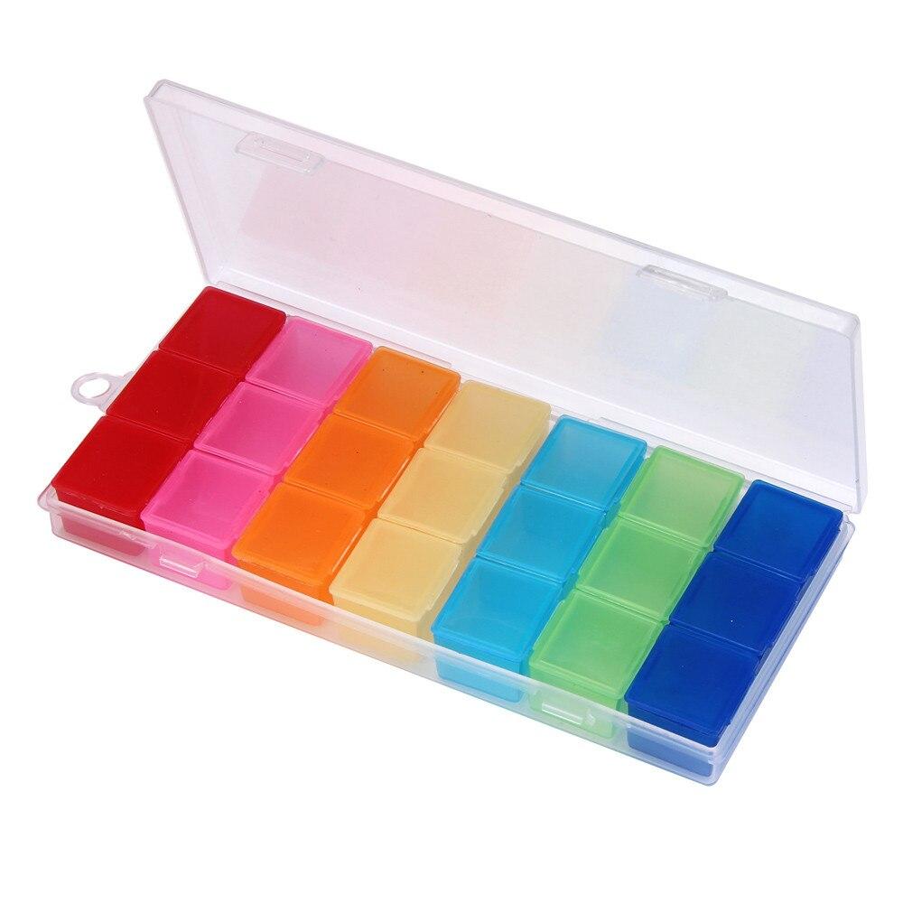 Box Дело Организатор неделю хранения держатель дело для медицины наркотиками таблетки 7 новый день Высокое качество Новый съемный таблетки с...