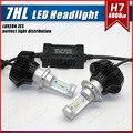 1 Unidades G7 LUXEON LED Linterna Auto Kit H7 50 W 8000LM ZES LUMILED Chip séptima Sin Ventilador 6500 K Super White H8 H9 H11 Sola Viga 9012