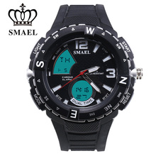 SMAEL New Man Watch With New Launch Of The New Dual Display Avatar And High Performance Waterproof Men Watches 1367