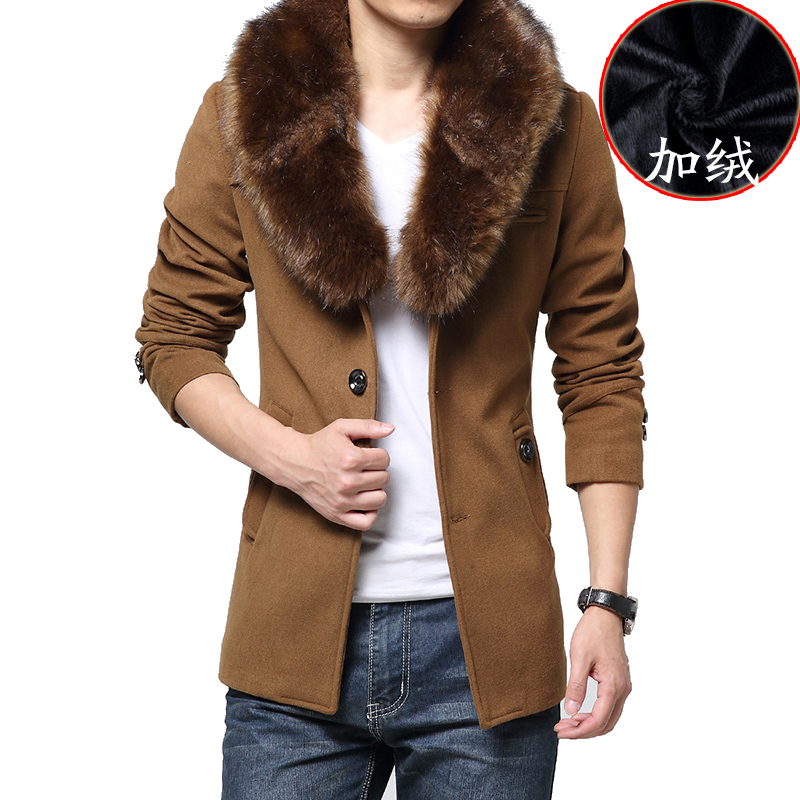 Popular Fur Collar Trench Coat Men-Buy Cheap Fur Collar Trench
