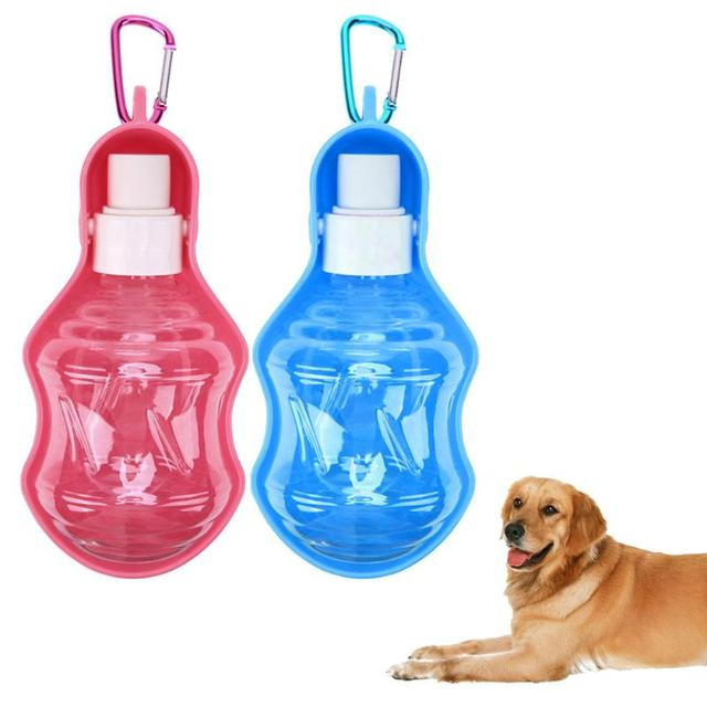 250ml Foldable Pet Dog Water Bottle Plastic Puppy Dog Cat Water Bottle Pet Outdoors Travel Feeder Water Bowl Dog Products