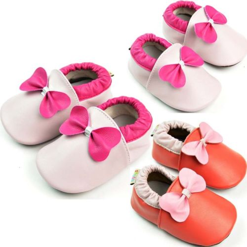 Pudcoco 2 Colors Lovely 0-24M Baby Soft Sole Leather Shoes Newborn Girl Bow Toddler Crib First Walkers