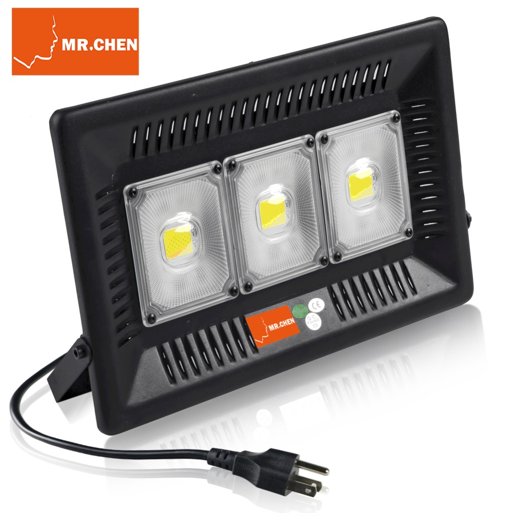 M.. CHEN Garantie 5 Année Étanche IP67 Intérieur Mur Extérieur Jardin Spot Refletor Extérieur Foco Lampe 50 W 100 W Plug led projecteur