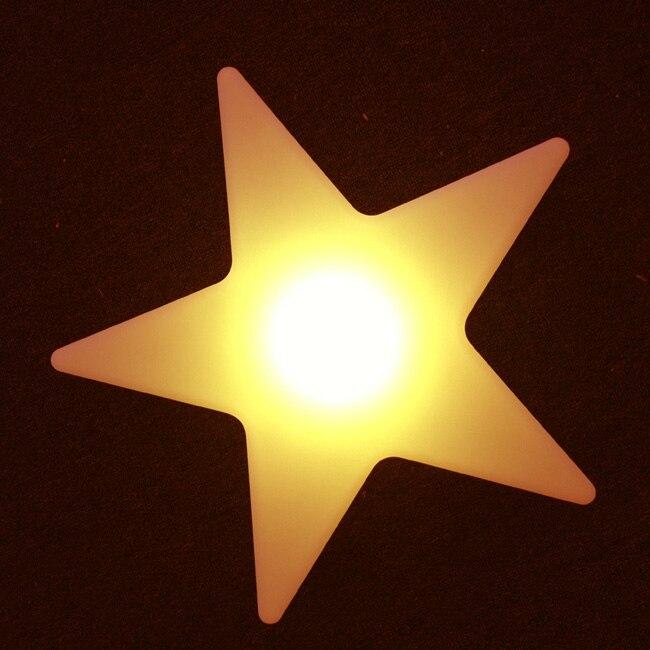 L40 * W40 * H12cm Cinque Star Luci notturne 16 cambiamento Di colore Di scintillio Star ricaricabile Impermeabile Decor Lampade Trasporto libero 5 pz/lotto - 2