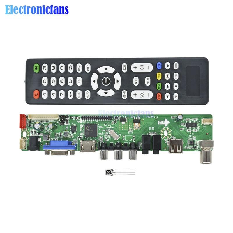 New Universal LCD Controller Board Resolution TV Motherboard VGA/HDMI/AV/TV/USB HDMI Interface Driver BoardNew Universal LCD Controller Board Resolution TV Motherboard VGA/HDMI/AV/TV/USB HDMI Interface Driver Board