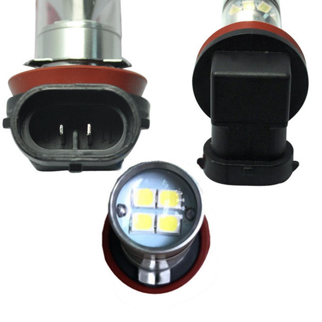 D DOLITY 2pcs Yellow H11 100W High Power Car Fog Daytime Running Light LED Bulbs