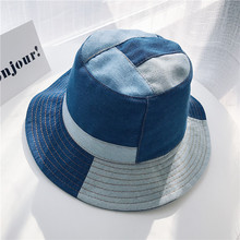 Original Design Patchwork Cowboy Bucket Hat  Men and Women Couple Cap Fisherman Retro Cap цена 2017