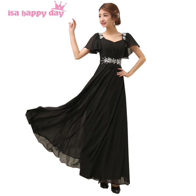 robes soiree women blue black a line party gown dress beaded evening ...