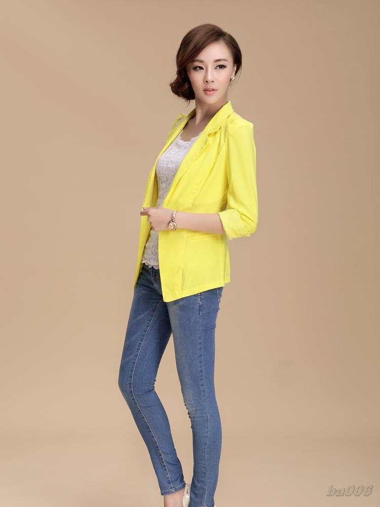 Online Shop Coat White Women Womens Clothes Yellow Jacket Womens ...