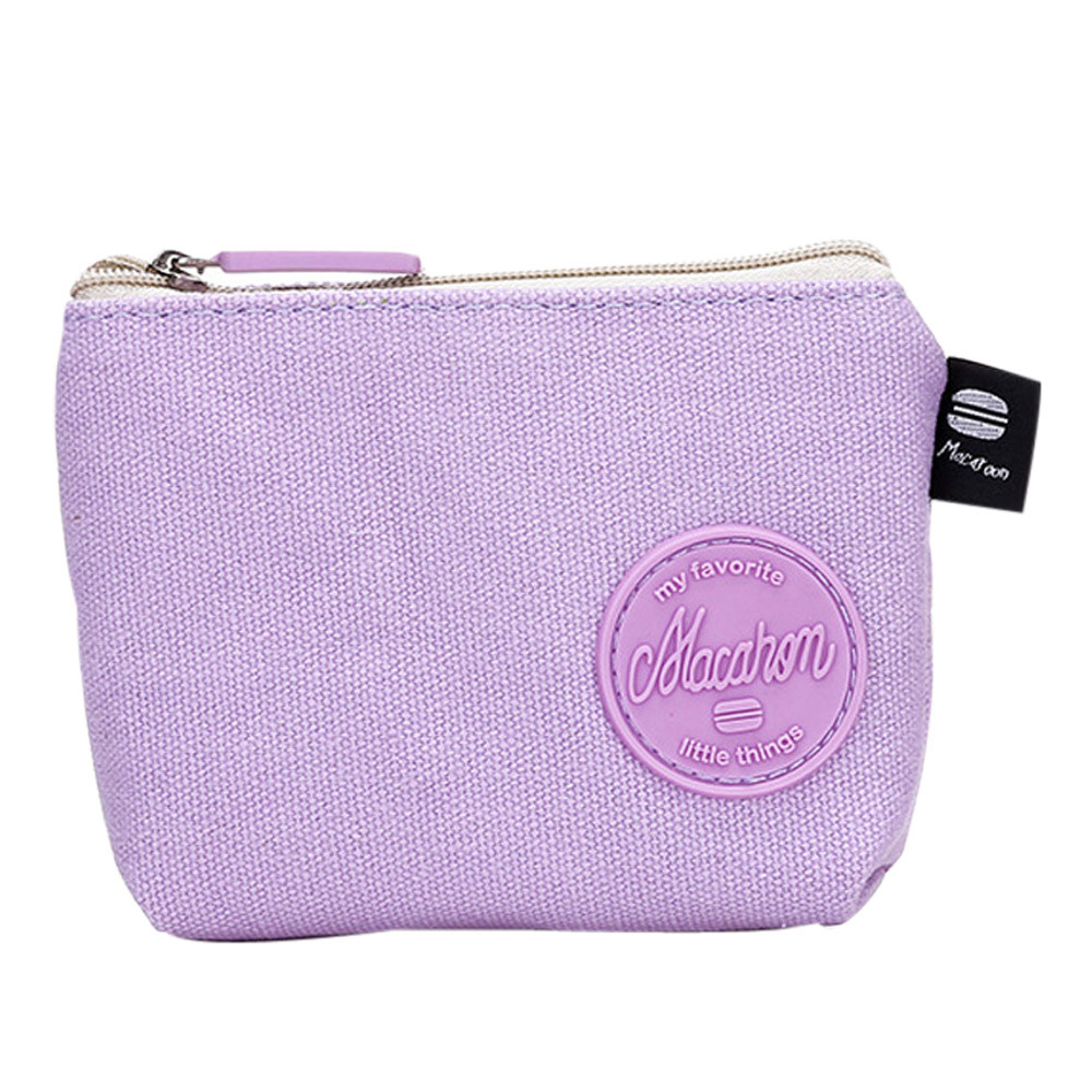 Women Solid Canvas Mini Coin Purse Teens Girls Cute Fashion Wallet Bag Key Card Holder Change Pouch portemonnee kinderen 2017 new mini bag leather coin purse header key wallet money card holder change wallet pouch change purse wholesale high quailty