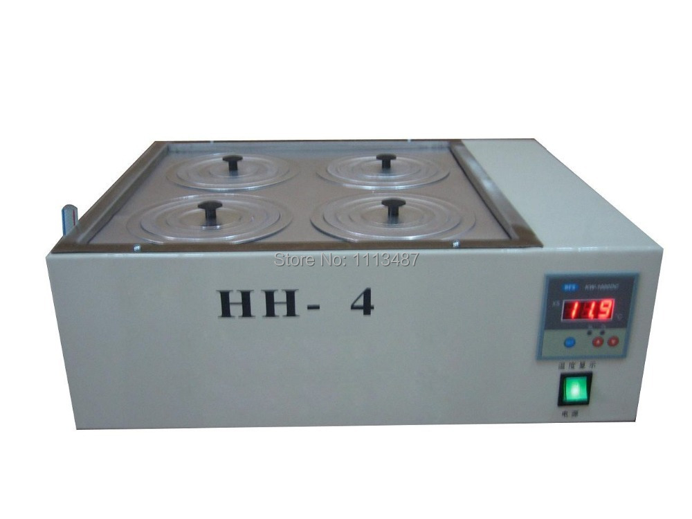 Four Hole Digital Lab Electric Heated Thermostatic Water Bath Boiler HH-4 hh 4 digital lab thermostatic water bath four hole electric heating 220v laboratory supplies